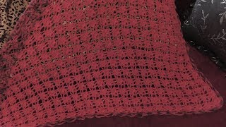 Вязание косынки узором лепесток.Схема. Видео урок.