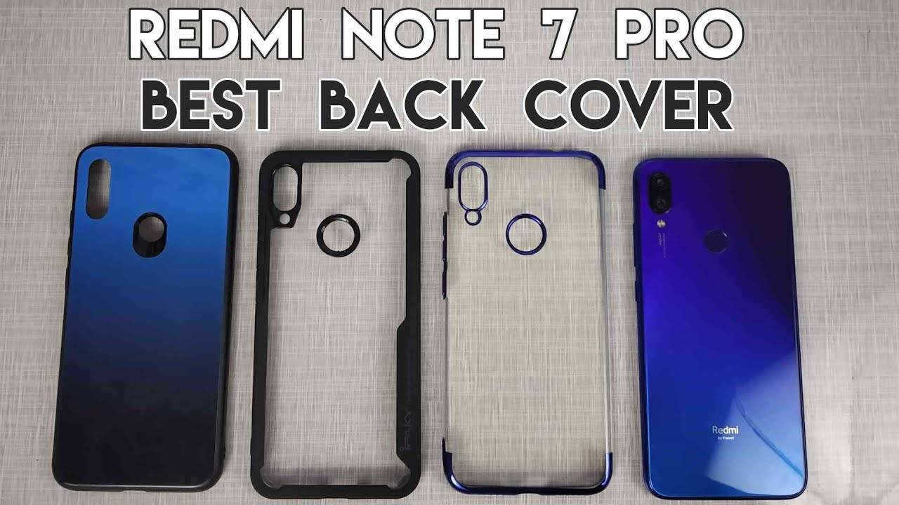 Best Back Cover For Redmi Note 7 Pro Transparent Glass Case Youtube