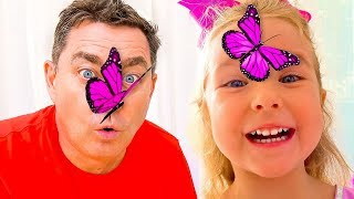 The story of how Milusik and papa caught a butterfly