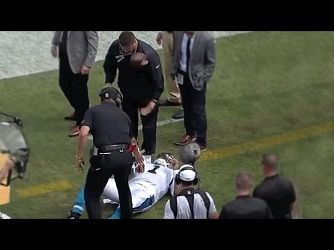 Cam Newton Decks Guy In The Face With A Football