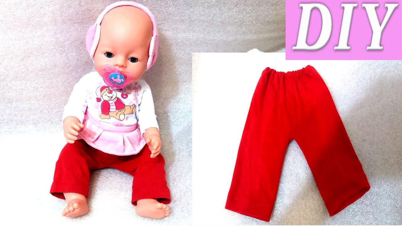 d46be3f4c5e9 DIY how to make clothes for dolls (reborn dolls or baby born) - YouTube