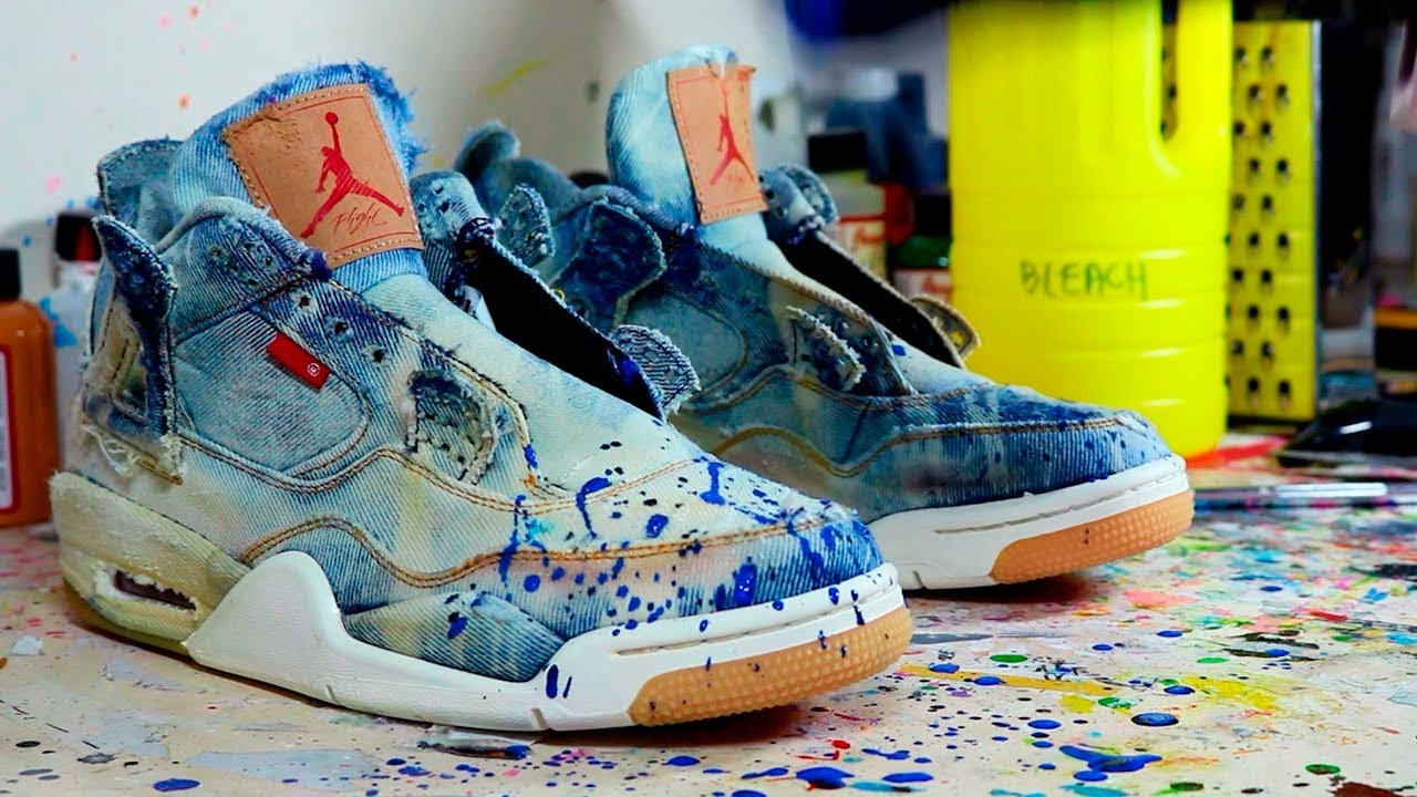 info for e9554 81059 LEVI'S AIR JORDAN 4 (BLEACHING & DISTRESSING)