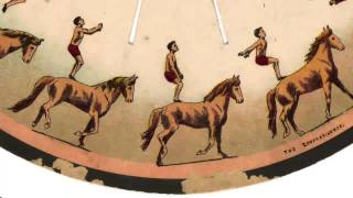 The zoopraxiscope. A Horse Back Somersault (detail).