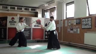 13  jo kata partner practise 1 jo -ken ( staff vs boken) [TUTORIAL] Aikido advanced weapon technique