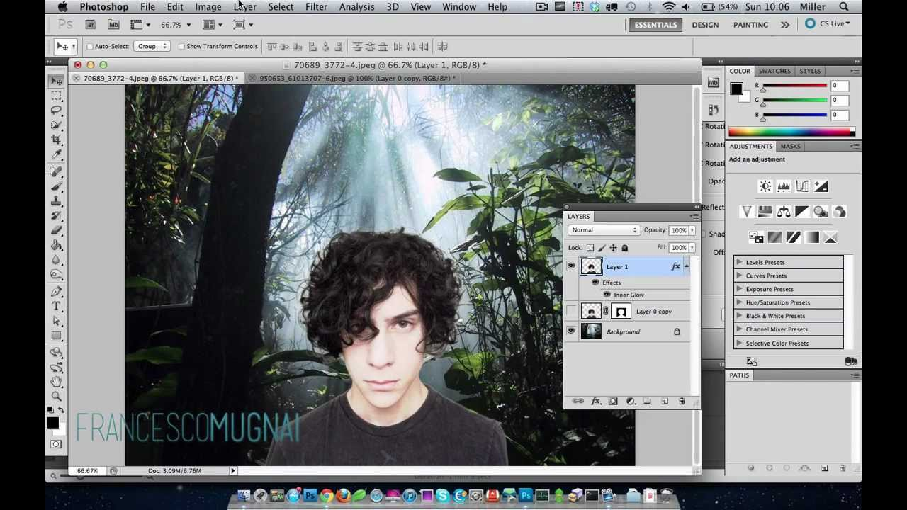 Cutting out hair in Photoshop CS11in 11 seconds - YouTube