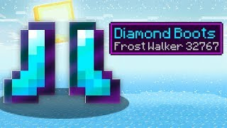 MAX Level Frost Walker 32767 Boots in Minecraft! (Max Level Enchantments)