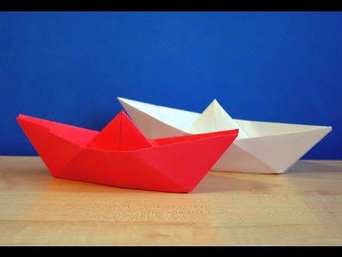 Как сделать кораблик из бумаги своими руками. Легкое оригами. Детские поделки. DIY.
