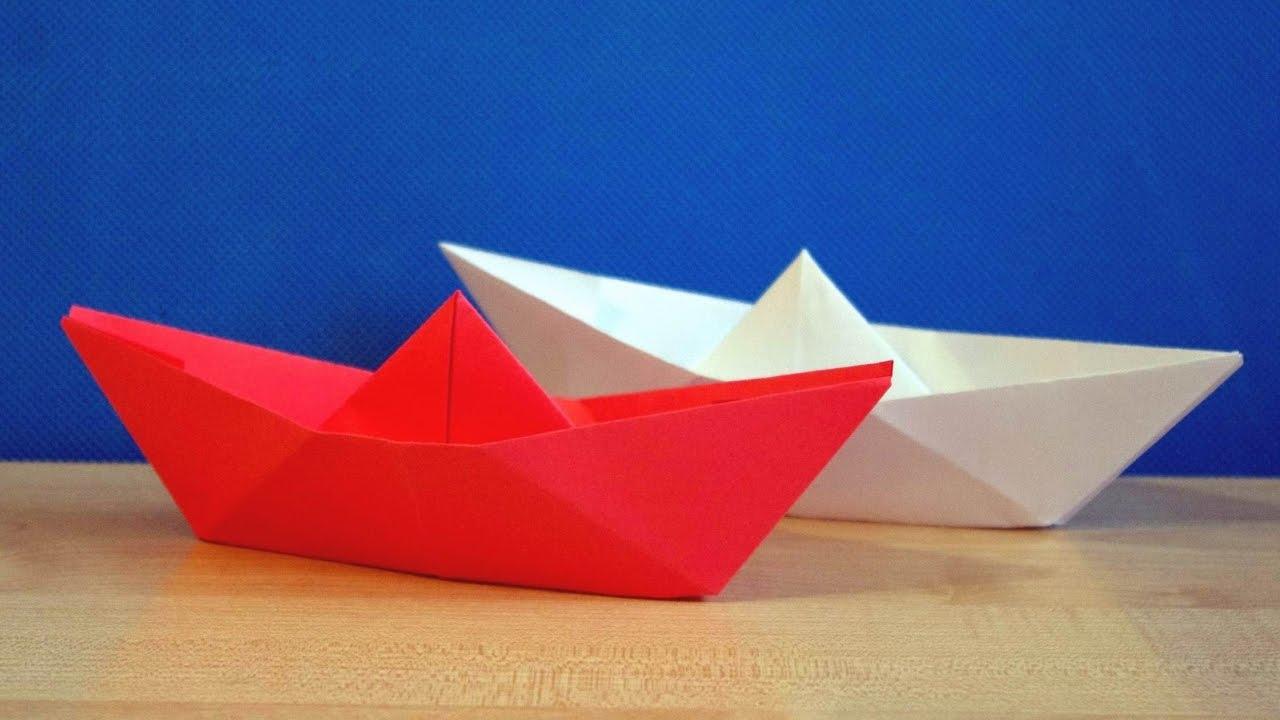 Как сделать бумажный кораблик видео фото 438