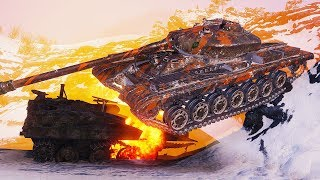 50TP Tyszkiewicza - 12 Kills - 1 vs 7 - World of Tanks Gameplay