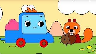 Мультфильм про машинки -  Грузовичок Пик - Раскраска -Маленький жёлудь - учим цвета