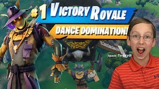VICTORY ROYALE! FORTNITE DANCE DOMINATION - HAY MAN SKIN | CollinTV Gaming