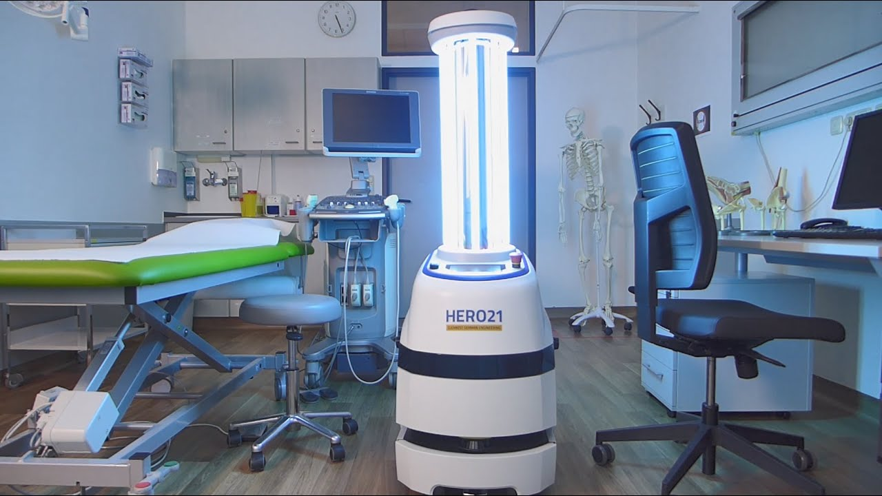 Game-changer in disinfection - HERO21 autonomous UV-C mobile robot solution for hospitals