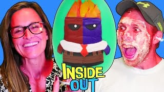 Challenge! New Inside Out Color Changer Anger HUGE Play Doh Surprise Egg! Toy Guessing by DCTC