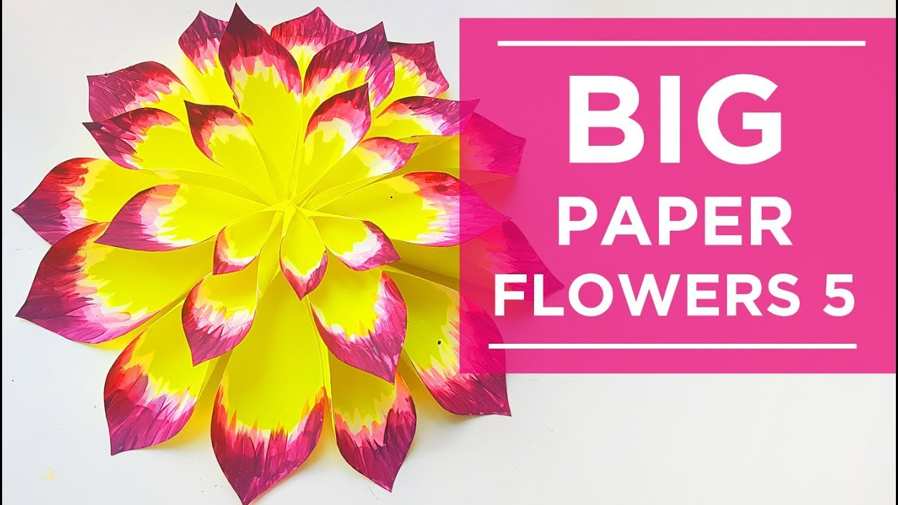 Big Yellow Paper Flower DIY. Huge flowers. Wall Backdrop. Wedding ...