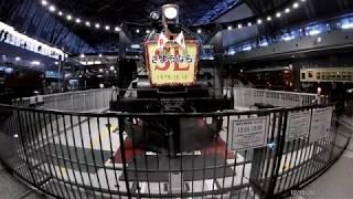 鉄道博物館 転車台回転・汽笛吹鳴実演 C57 135蒸気機関車 thumbnail