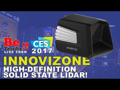 InnovizOne High-Definition Solid State LiDAR at CES 2017 on BeTerrific!!