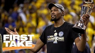 Stephen a. smith reacts to nba survey picking warriors as repeat champions | first take | espn