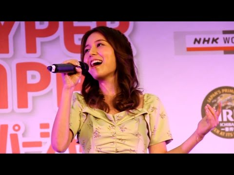 """May J performing """"Sparkle - 輝きを信じて"""" LIVE @HYPER JAPAN Festival 2015 in London"""