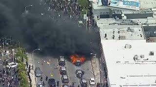LIVE: Violence erupts in Los Angeles amid protests over death of George Floyd