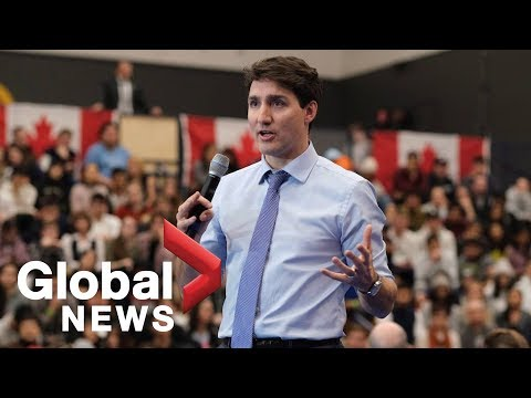 Justin Trudeau brushes off woman's question during town hall event