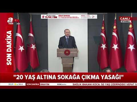 Başkan Erdoğan açıkladı: 20 yaş altına sokağa çıkma yasağı geldi!