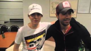 Enrique With Fan Ilya Macarichev Backstage At Concert In Moscow