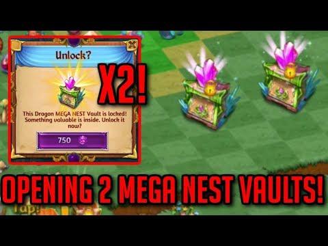 Opening 2 Mega Nest Vaults - 750 Gems Each | Merge Dragons