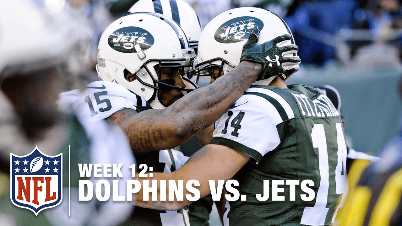 timeless design 467f3 4d4e8 Brandon Marshall Snags a Sweet TD Pass Against the Dolphins! | Dolphins vs.  Jets | NFL