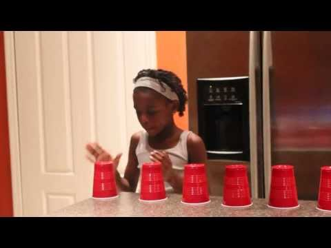 The Cup Song Singing with 11 Cups by 9 year old Chelsea