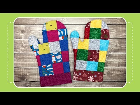 How to Sew Patchwork Oven Mitts with Crafty Gemini