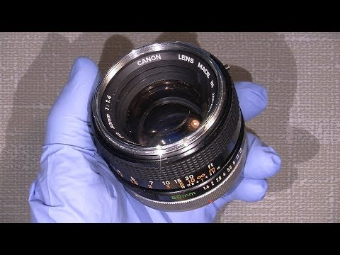 Cleaning Lens Elements In Canon FD 50mm 1:1.4 Breech-lock Version (maybe Haze)
