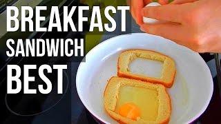 BEST BREAKFAST SANDWICH (How T Make, Easy Recipe)
