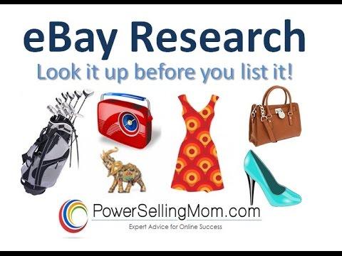 eBay Listing Research LIVE DEMO