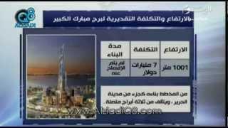 مقارنة بين برج خليفة و مبارك في الكويت و برج جدة