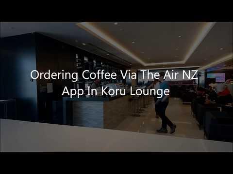 Ordering Coffee Via The Air NZ App In Koru Lounge