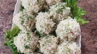 Рисовые шарики с фаршем