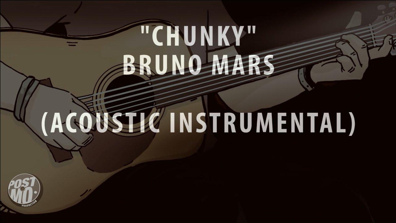 Chunky Bruno Mars Acoustic Guitar Instrumental Cover Karaoke