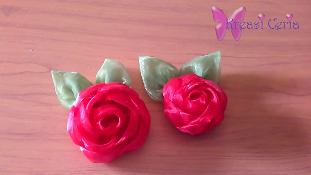 Cara Membuat Mawar Indah dari Kain Perca - YouTube 672d632152