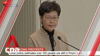 Underage PolyU protesters to be treated 'in a very humanitarian way', says Hong Kong's Carrie Lam