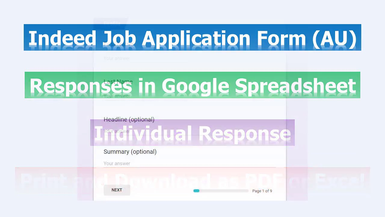 indeed job application form