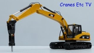 Norscot Caterpillar 323D L Excavator + CAT H120E S Hammer by Cranes Etc TV