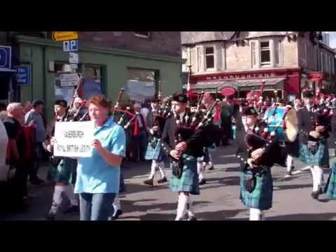 Fraserburgh Royal British Legion Pipe Band Highland Games Parade Pitlochry Perthshire Scotland