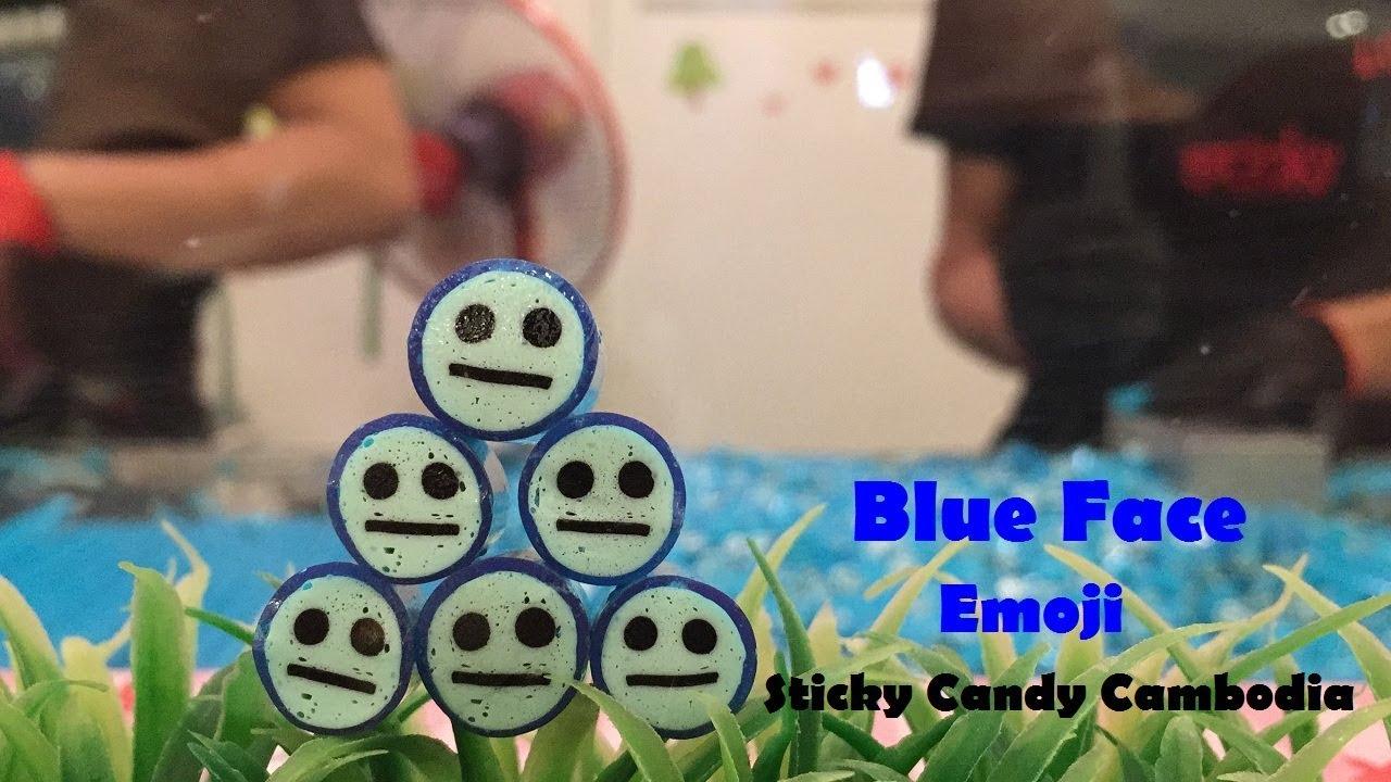 32 Sticky Blue Face Emoji Sticky Candy With Emoji Making Blue
