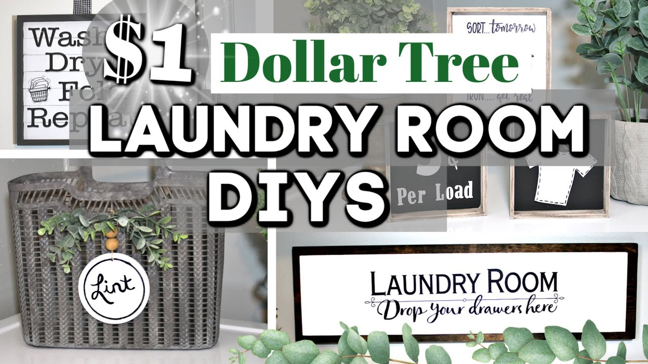 High End Diy Dollar Tree Laundry Room Decor Ideas Dollar Tree Farmhouse Decor Krafts By Katelyn Youtube