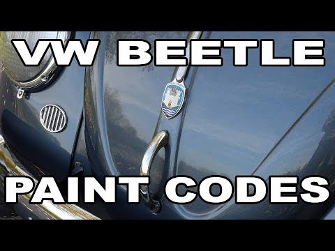 Classic VW BuGs Best Tips to Find Paint Codes Formulas for Beetle Restoration
