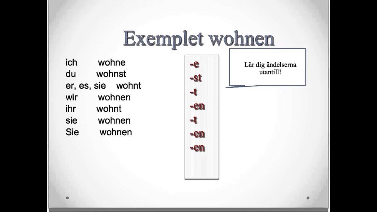 Regelbundna verb på tyska