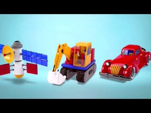 Lắp ráp đồ chơi - Xe ô tô, máy kéo, tên lửa, tàu ngầm và máy múc, đào ủi - Build and Play 3D