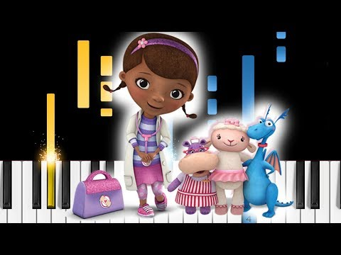 Doc McStuffins - Theme Song - Piano Tutorial / Piano Cover