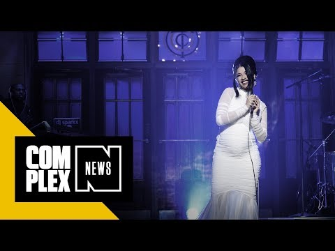 Cardi B Shows Off Her Pregnant Belly on SNL