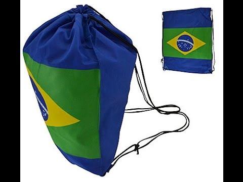 69133cec487f5 Sacola Bolsa Para Academia Esporte Bandeira Do Brasil - Copa do Mundo